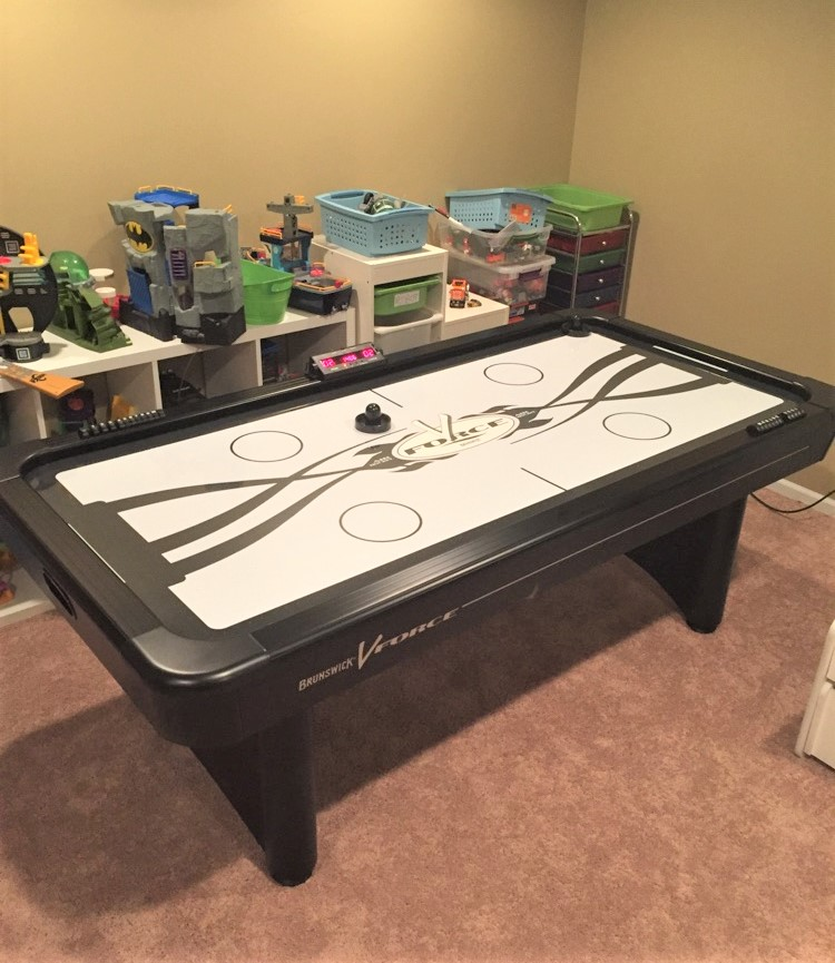 Delivery installation of a brunswick v force air hockey table in lake zurich il transmotion - Brunswick air hockey table ...