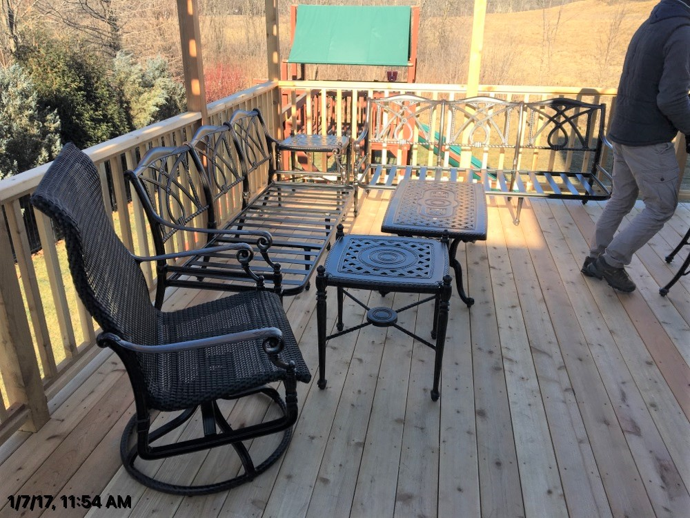 Delivery Installation Of Gensun Grand Terrace Patio Furniture In Lake Forest Il Transmotion