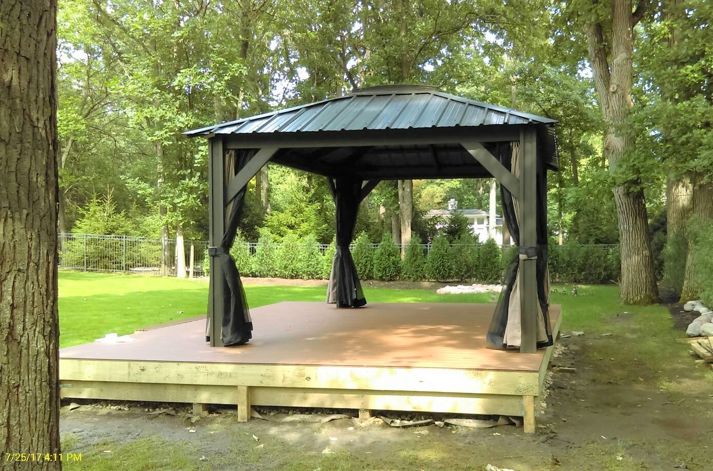 Transmotion Delivery Assembly Installation Relocation Chicago IL Visscher  Verona Gazebo 11 X 14 Blacksmith (3 Part 90