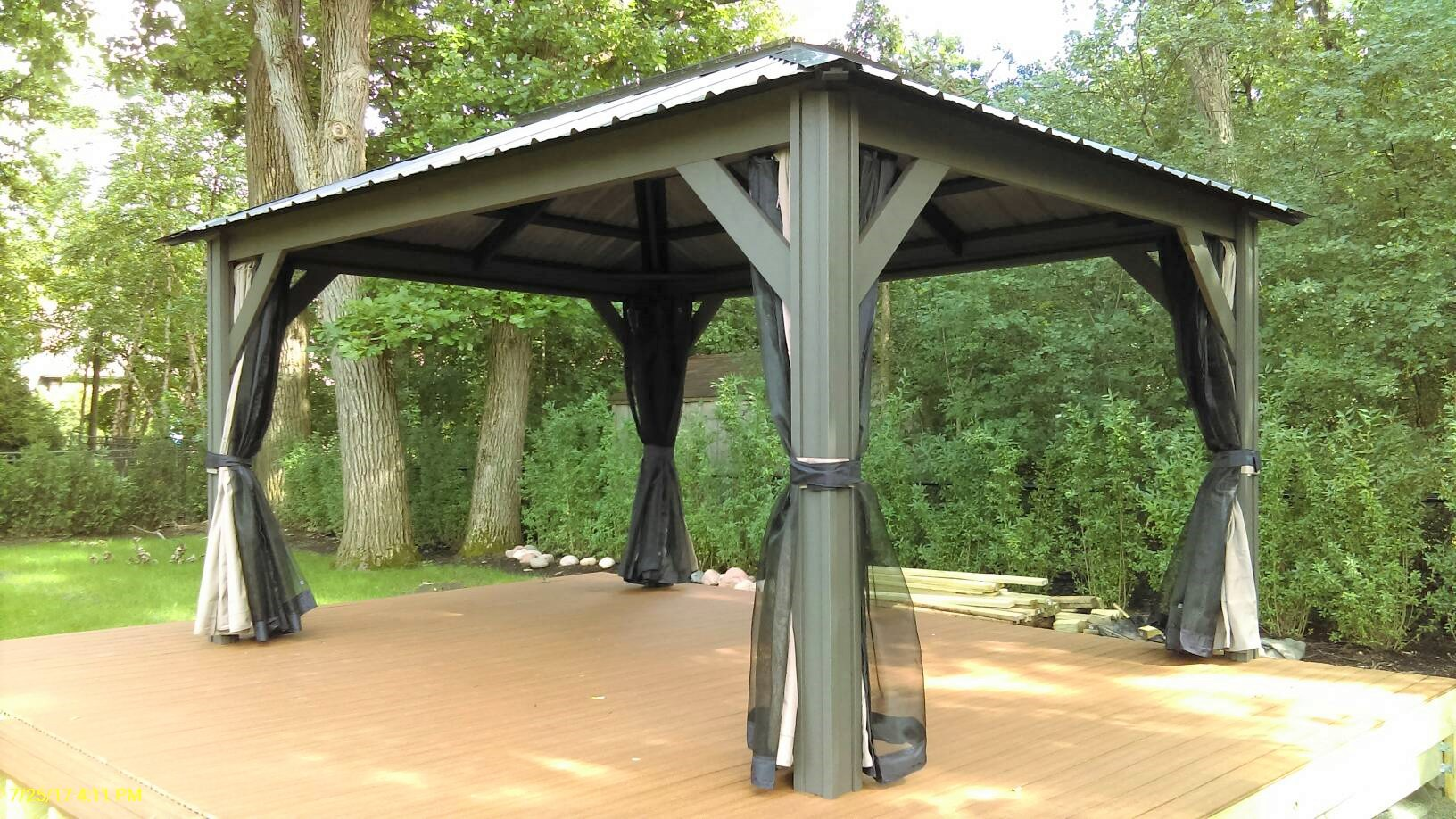 Transmotion Delivery Assembly Installation Relocation Chicago IL Visscher  Verona Gazebo 11 X 14 Blacksmith (3 Part 89