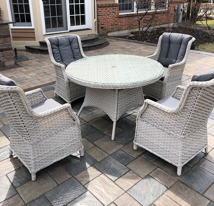 Transmotion Delivery Assembly Installation Relocation St.Charles IL Chicago Wisconsin Michigan Indiana California Washington Patio Furniture Creative living wicker furniture