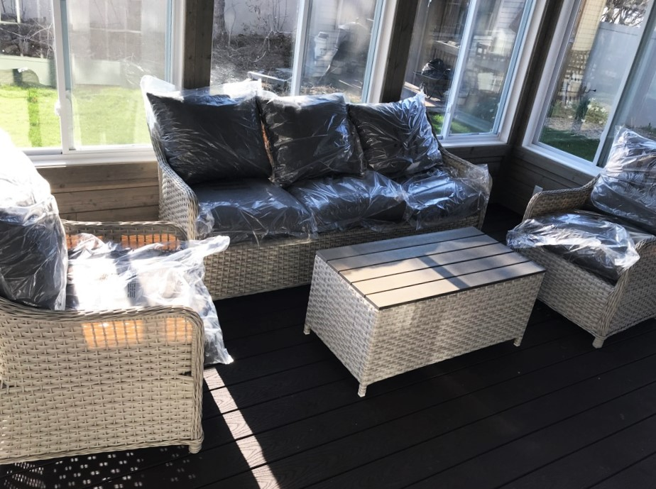 Transmotion Delivery And Embly Of Creative Living Patio Furniture In Griffith Indiana Wisconsin Washington California