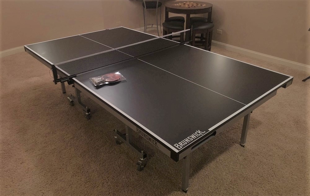 Transmotion Delivery Assembly Installation Relocation of a Brunswick Billiards Smash 7.0 Table Tennis in Long Grove IL Illinois Indiana Wisconsin Washington California Michigan Fun Game Table Play Win Sports Fitness Fit Health Healthy Reaction Muscle Lifestyle United States America