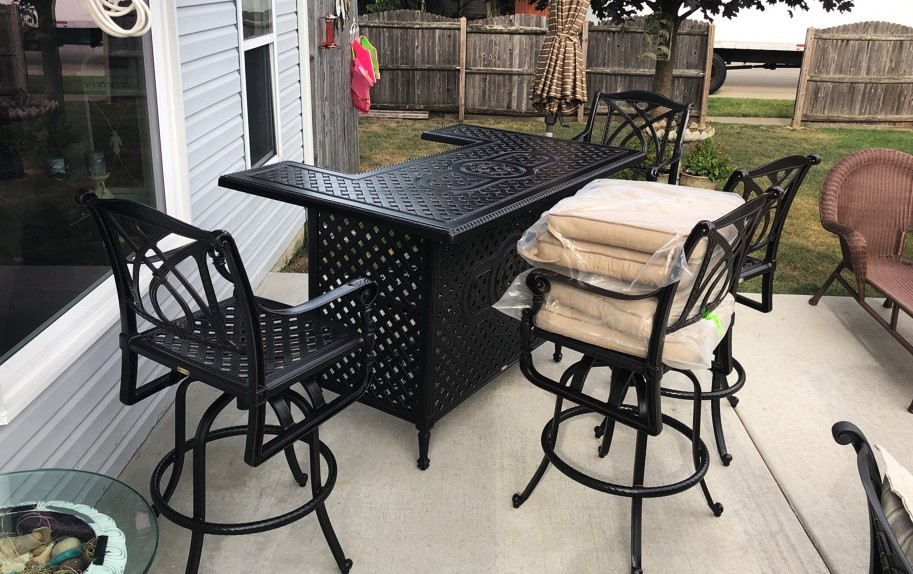 Delivery Embly Of A Gensun Casual Living Patio Furniture Set In Joliet Il
