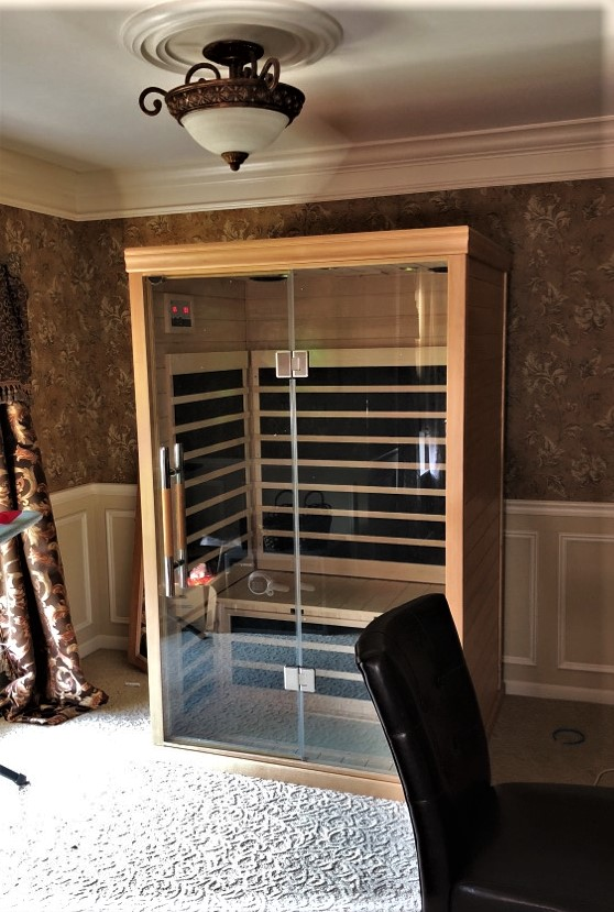 Transmotion Delivery Assembly Installation Relocation of a Saunatec inc. 2-Person Supreme Bluetooth Sauna in Aurora IL Illinois Indiana Wisconsin Washington Michigan California Sauna Home Healthy Fun Relax Friends Family Fit Fitness Lifestyle America Steam