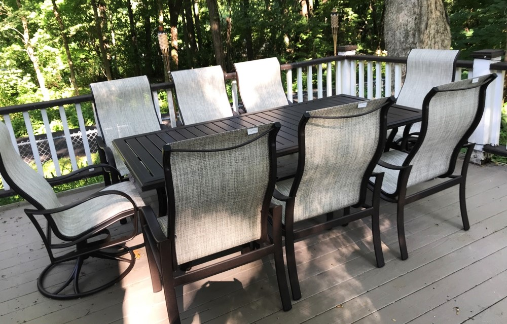 Delivery Installation Of A Patio Furniture Set In Fontana Wi