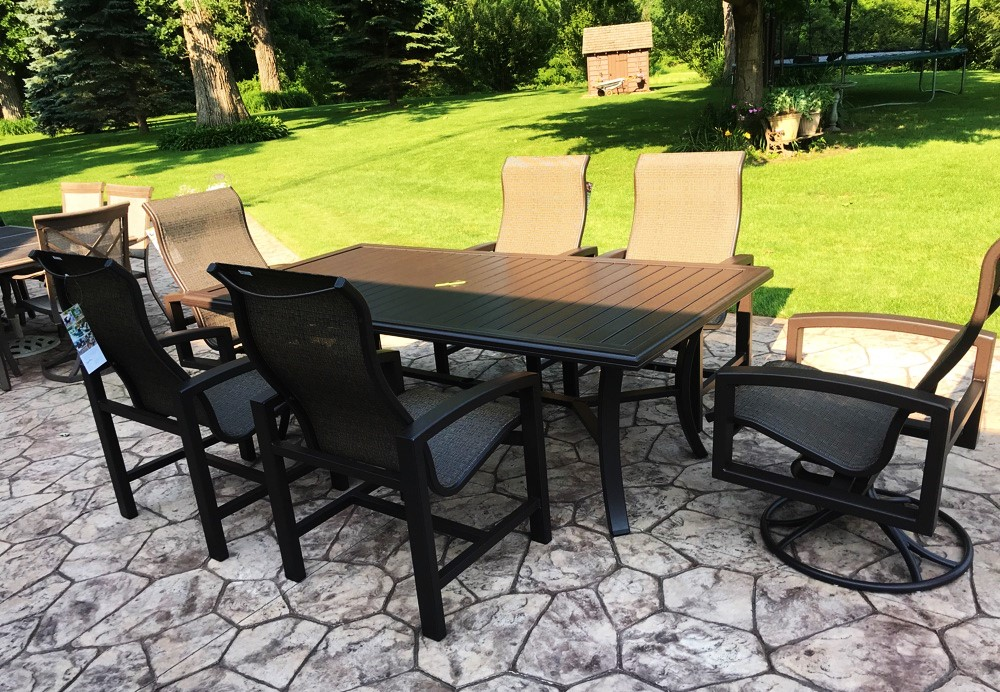 Delivery Installation Of Tropitone Patio Furniture In Genoa Il
