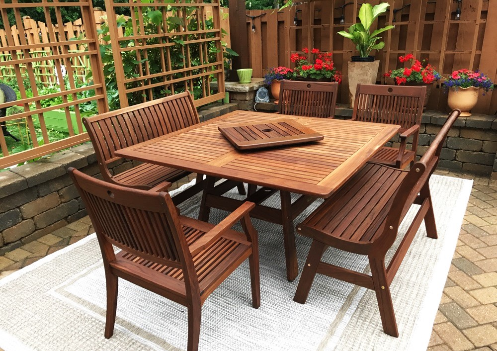 Transmotion Delivered And Embled A Jensen Leisure Patio Furniture Set Of 2 Amber Collection Benches Opal Dining Chairs Beachworth